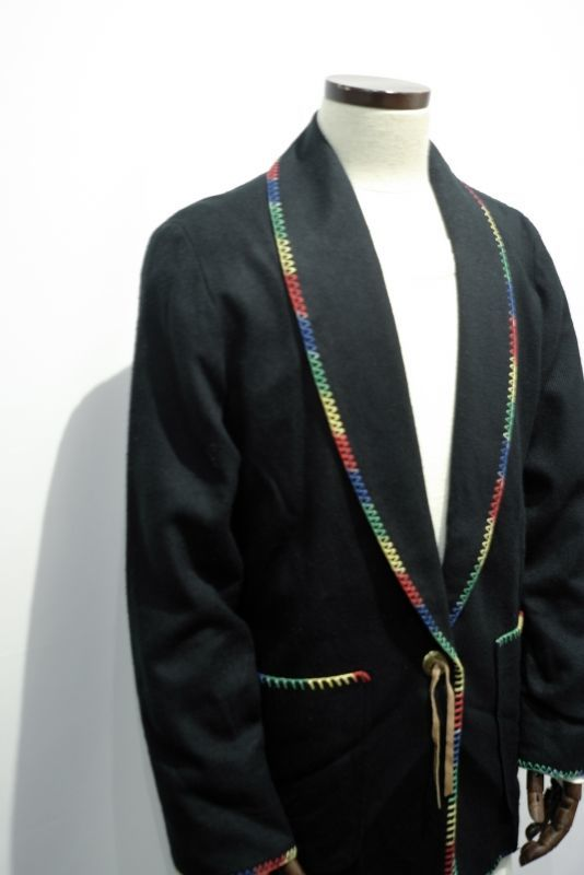 画像1: RAINBOW STICH SHAWL COLLAR JACKET (1)