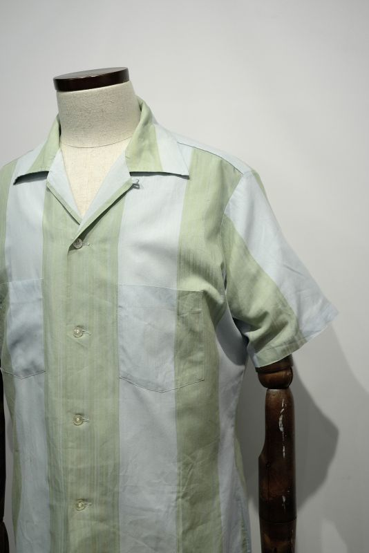 "画像1: ""ARROW"" STRIPE OPEN COLLARED S/S SHIRT (1)"
