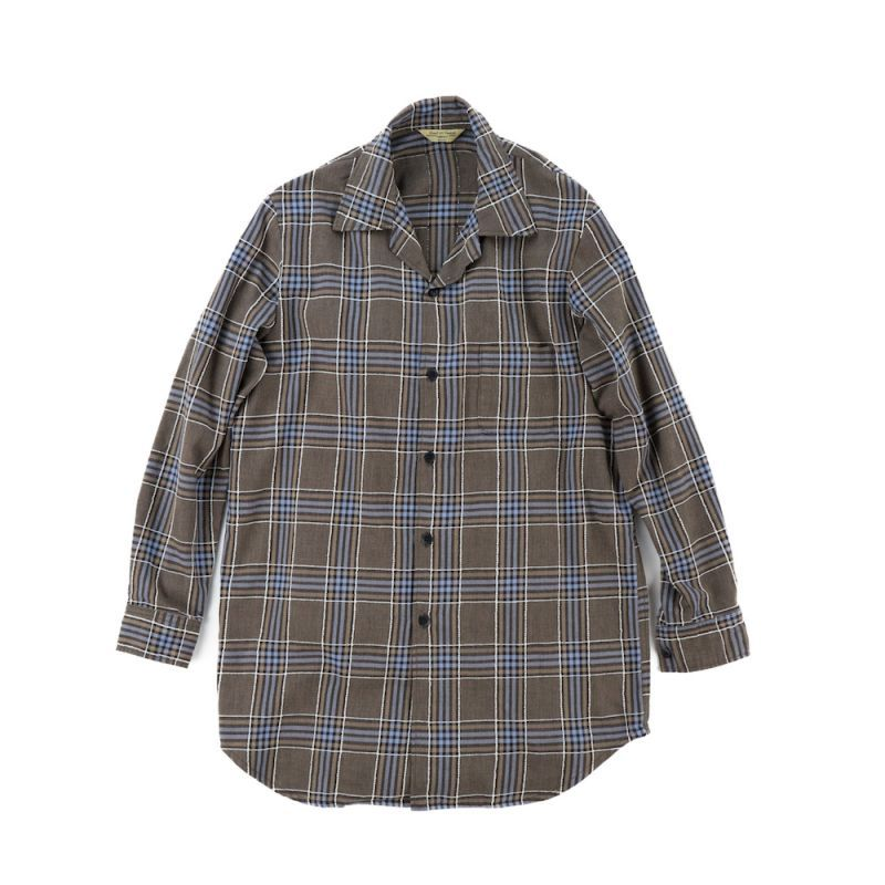 画像1: EMBROIDERY CHECK LONG SHIRTS (1)