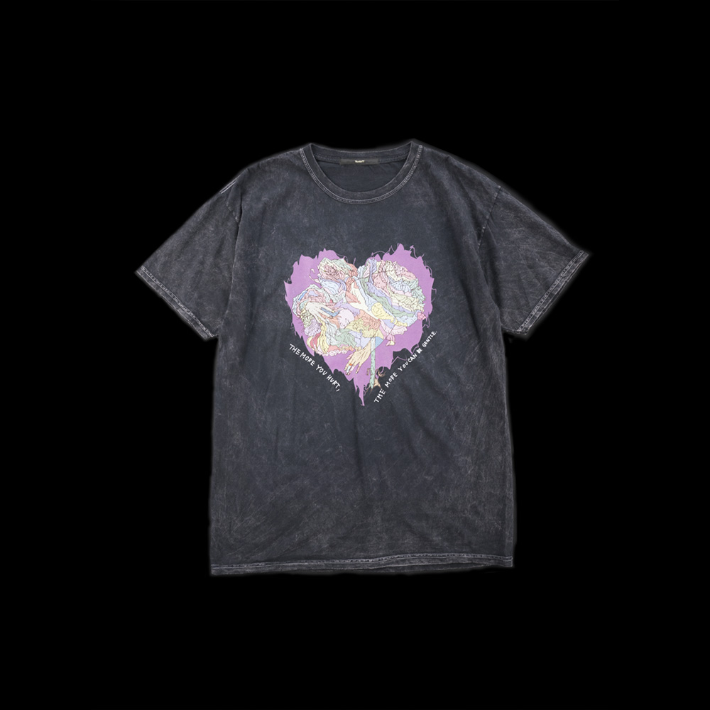画像1: JUNKIE HEART DYED T-SHIRTS (1)